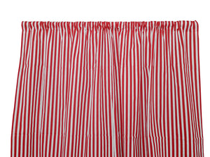 Cotton Curtain Stripe Print 58 Inch Wide /Half Inch Stripe Red and White