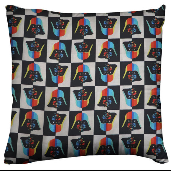 Star Wars Themed Decorative Throw Pillow/Sham Cushion Cover Checkered Rainbow Darth Vader