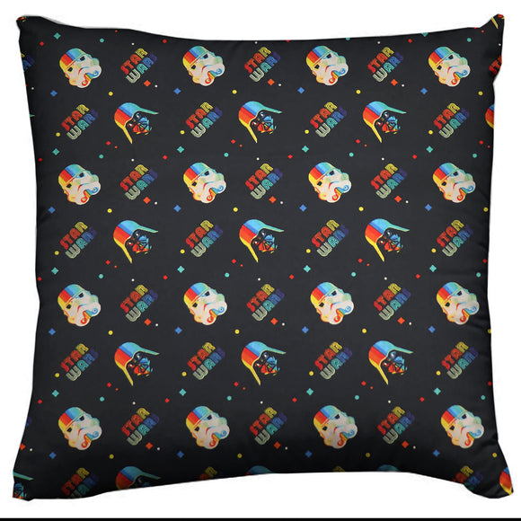 Star Wars Themed Decorative Throw Pillow/Sham Cushion Cover Rainbow Vader Trooper Helmets