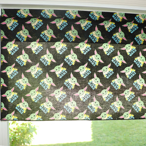 "100% Cotton Window Valance 42"" Wide Star Wars Baby Yoda"