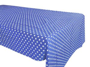 Cotton Stars Tablecloth Blue