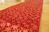 Brocade Table Runner Christmas Holiday Collection Glittery Stars Red