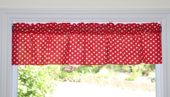 Cotton Stars Print Window Valance 58