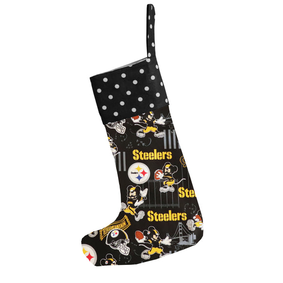 Christmas Stocking Mickey Mouse Pittsburgh Steelers Football Team
