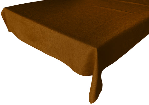 Faux Burlap Solid Tablecloth Bronze