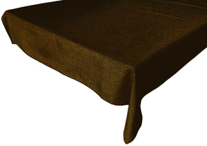 Faux Burlap Solid Tablecloth Brown