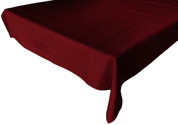 Faux Burlap Solid Tablecloth Burgundy