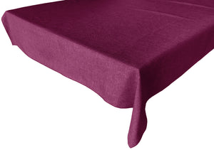 Faux Burlap Solid Tablecloth Fuchsia