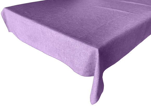 Faux Burlap Solid Tablecloth Lavender