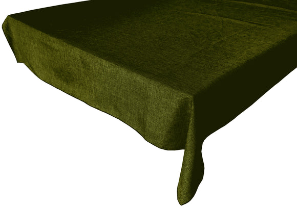 Faux Burlap Solid Tablecloth Olive