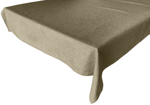 Faux Burlap Solid Tablecloth Wheat