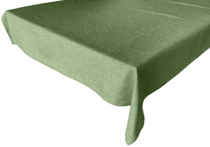 Faux Burlap Solid Tablecloth Willow