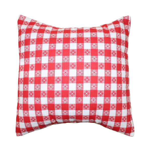 Cotton Tavern Checkerboard Print Decorative Throw Pillow/Sham Cushion Cover Red & White