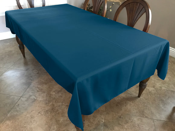 Solid Poplin Tablecloth Dark Teal