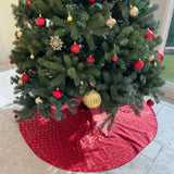 "Shiny Heavy Brocade Tree Skirt Christmas Decoration 56"" Round Large Skirt"