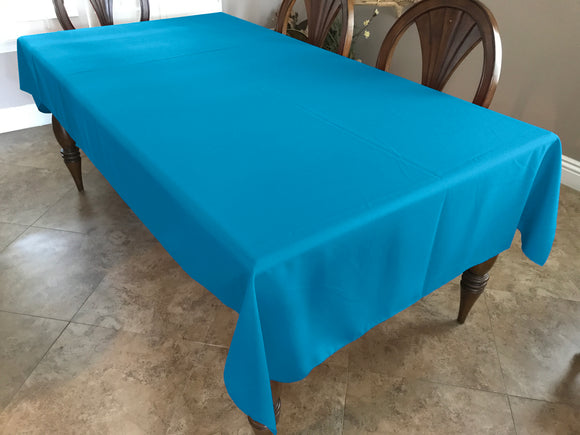 Solid Poplin Tablecloth Turquoise