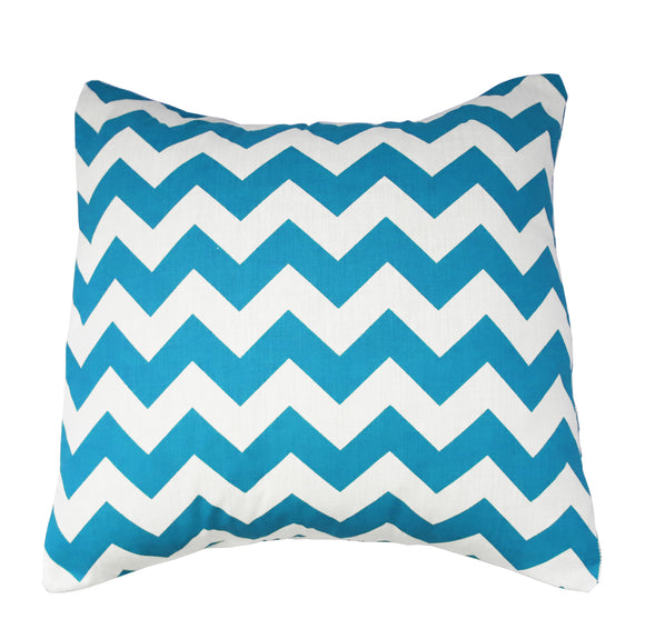 Cotton Chevron Decorative Throw Pillow/Sham Cushion Cover Turquoise