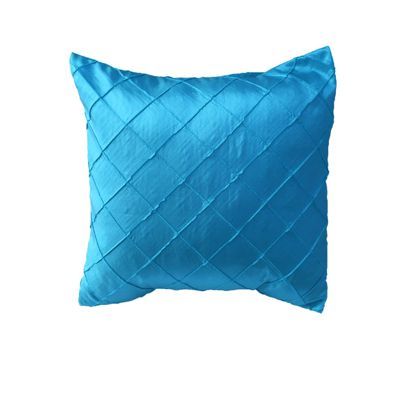 Pintuck Taffeta Decorative Throw Pillow/Sham Cushion Cover Turquoise