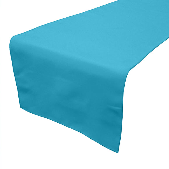 Poplin Table Runner Solid Turquoise