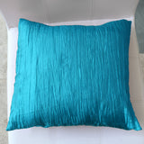 Crushed Taffeta Decorative Throw Pillow/Sham Cushion Cover Turquoise