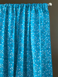 Cotton Bandanna Window Curtain 58 Inch Wide Turquoise