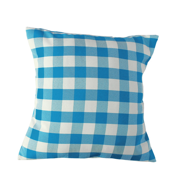 Gingham Checkered Decorative Throw Pillow/Sham Cushion Cover Turquoise & White
