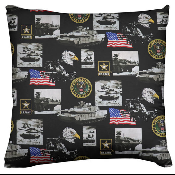 Army Themed Decorative Throw Pillow/Sham Cushion Cover United States Army Print