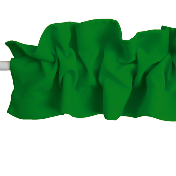 Solid Poplin Curtain Sleeve Topper Valley Green