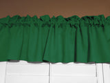"Solid Poplin Window Valance 58"" Wide Valley Green"