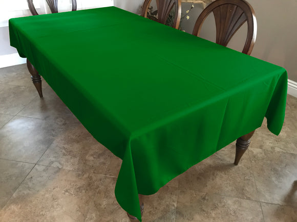 Solid Poplin Tablecloth Valley Green