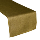 Faux Burlap Table Runner Solid Dark Gold