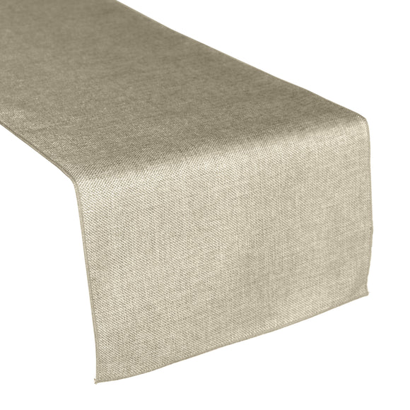 Faux Burlap Table Runner Solid Frosted Wheat
