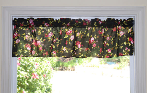 Cotton Vintage Floral Window Valance 58
