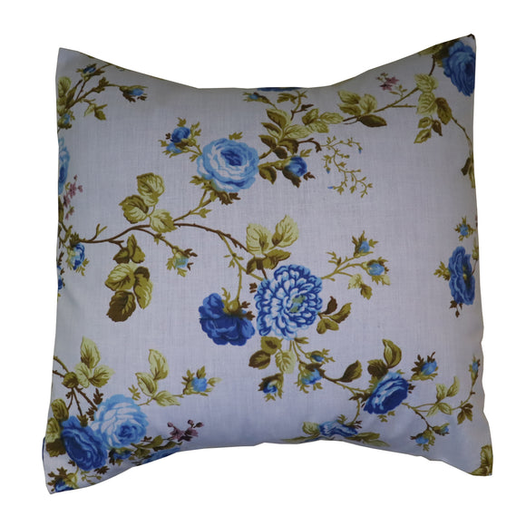 Cotton Vintage Floral Decorative Throw Pillow/Sham Cushion Cover Royal Blue