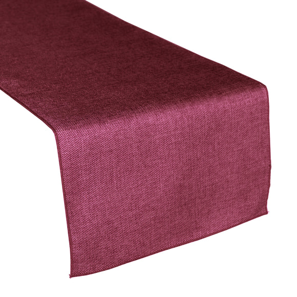 Faux Burlap Table Runner Solid Fuchsia