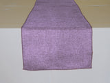 Faux Burlap Table Runner Solid Lavender