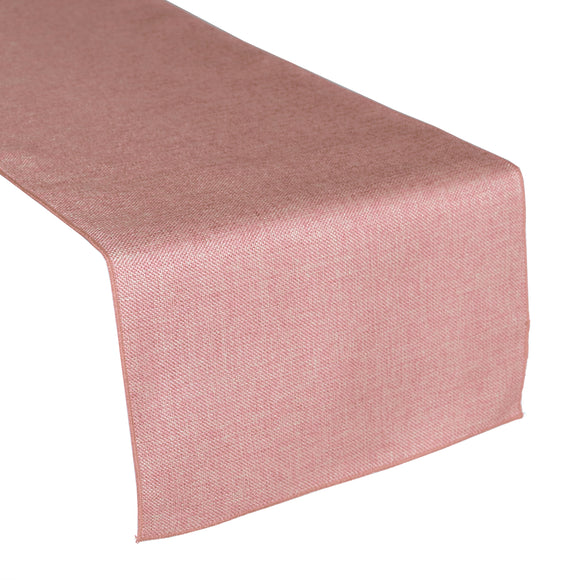 Faux Burlap Table Runner Solid Light Pink