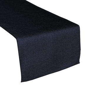 Faux Burlap Table Runner Solid Navy