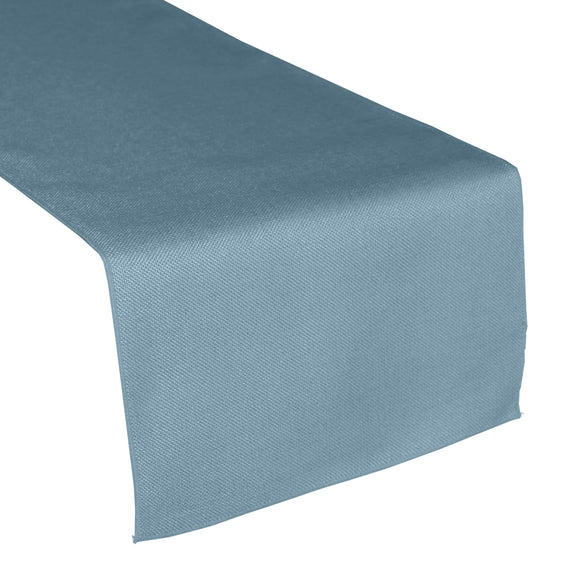 Faux Burlap Table Runner Solid Slate Blue