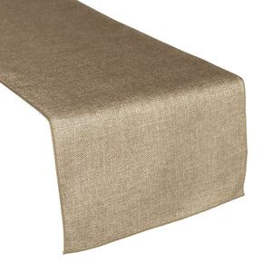 Faux Burlap Table Runner Solid Wheat