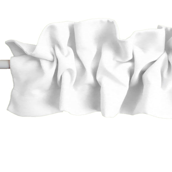 Solid Poplin Curtain Sleeve Topper White