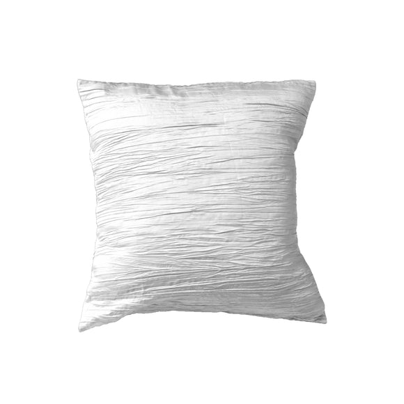 Crushed Taffeta Decorative Throw Pillow/Sham Cushion Cover White