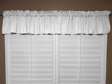 "Solid Poplin Window Valance 58"" Wide White"