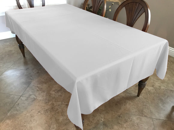 Solid Poplin Tablecloth White