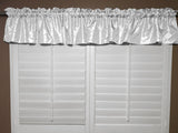"Pintuck Window Valance 52"" Wide White"