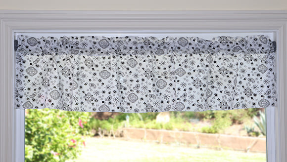 Cotton Bandanna Window Valance 58