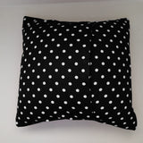 Cotton Small Polka Dots Decorative Throw Pillow/Sham Cushion Cover White on Black