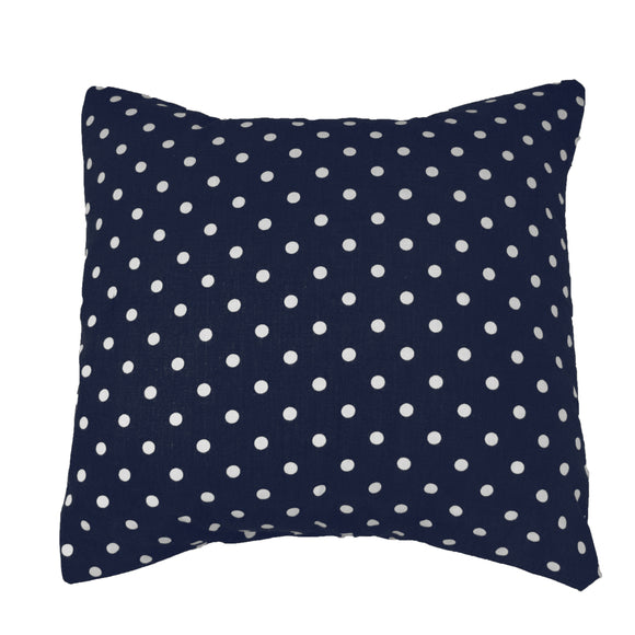 Cotton Small Polka Dots Decorative Throw Pillow/Sham Cushion Cover White on Navy