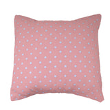 Cotton Small Polka Dots Decorative Throw Pillow/Sham Cushion Cover White on Pink
