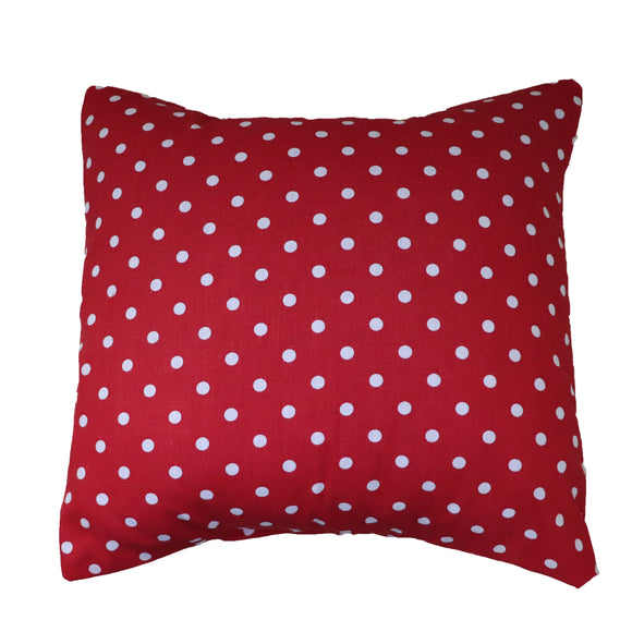 Cotton Small Polka Dots Decorative Throw Pillow/Sham Cushion Cover White on Red